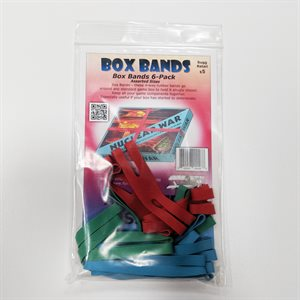 Board Game Box Rubber Bands Asst (6 pk)
