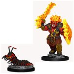 Wardlings RPG figure (Painted) Wave 4: Fire Orc & Fire Centipede