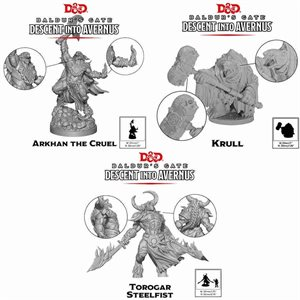Dungeons & Dragons: Baldurs Gate: Descent Into Avernus Mini - Arkhan,Torogar & Krull (3 pcs) ^ 2020