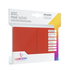 Sleeves: Gamegenic Prime Sleeves: Red (100)