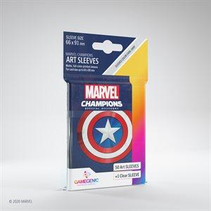 Sleeves: Marvel Champions Captain America (50)