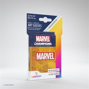 Sleeves: Marvel Champions Marvel Logo Orange (50)