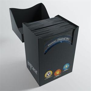 Deck Box: Keyforge Gemini: Black (80ct)