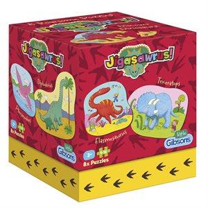 Puzzle: 4-16 Dinosaur Jigasawrus (8 Puzzles)