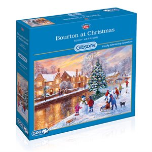 Puzzle: 500 Bourton at Christmas