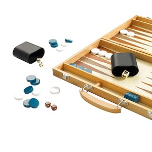 "15"" Wooden Backgammon"