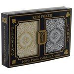 Kem Card Poker Two Pack Black / Gold
