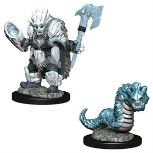 Wardlings RPG figure (Painted) Wave 4: Ice Orc & Ice Worm