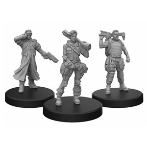 Cyberpunk Red Miniatures: Edgerunners B (Tech - Nomad - Fixer) (No Amazon Sales)