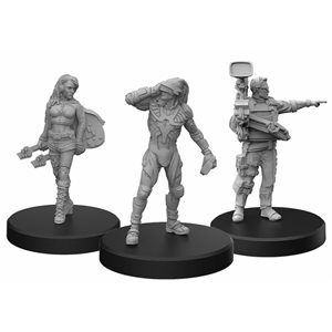 Cyberpunk Red Miniatures: Edgerunners C (Rocker - Netrunner - Media) (No Amazon Sales)