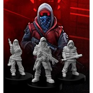 Cyberpunk Red Miniatures: Combat Zoners C (No Amazon Sales)