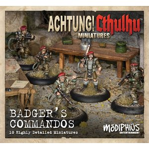 Achtung! Cthulhu Miniature Game: Badger's Commandos Unit Pack (8)