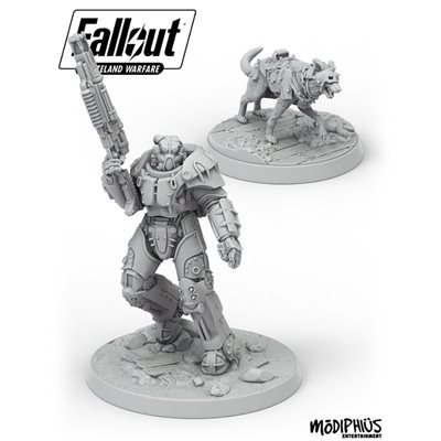 Fallout: Wasteland Warfare: X01 Survivor & Dogmeat