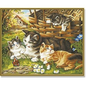 Paint by Numbers: Cat Family (Multi)