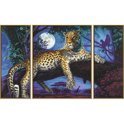 Paint by Numbers: Predator in the Night (Tryptych)