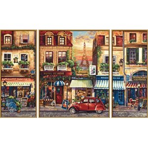 Paint by Numbers: Paris Nostalgia (Tryptych)