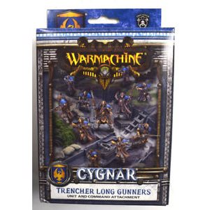 Cygnar: Trencher Long Gunners: Unit and Command Attachment (Resin / Metal)