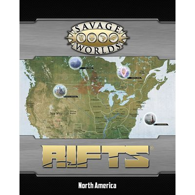 Savage Worlds: Rifts: Map: North America and Castle Refuge