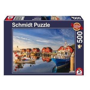 Puzzle: 500 Fishing Harbor: Weisse Wiek