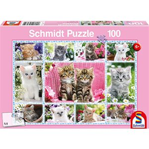Puzzle: Child 100 Kittens
