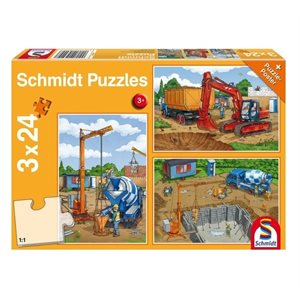 Puzzle: Child 3x24 Construction Work Ahead