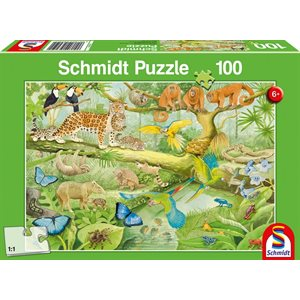 Puzzle: 100 Animals In The Jungle