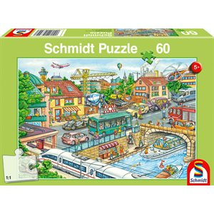 Puzzle: Child 60 Vehicles and Traffic