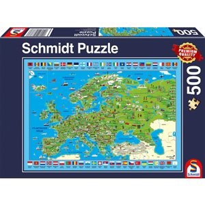 Puzzle: 500 Discover Europe