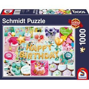 Puzzle: 1000 Happy Birthday