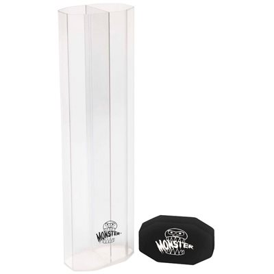 Monster Dual Playmat Tube Clear With Black Cap
