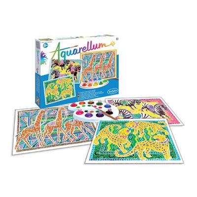 Aquarellum: Magic Canvas Large Zebras, Giraffes & Panthers (Multi) (No Amazon Sales)