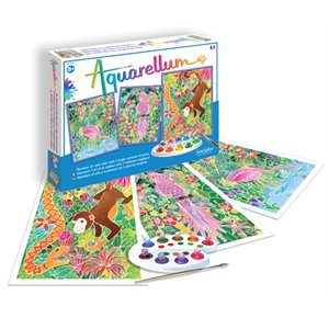 Aquarellum: Magic Canvas Large Amazon (Multi) (No Amazon Sales)