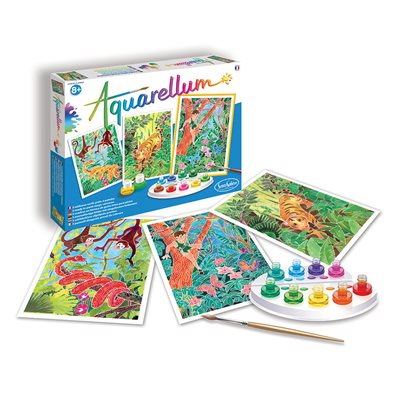 Aquarellum: Magic Canvas Large Jungle Book (Multi) (No Amazon Sales)