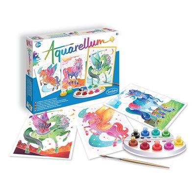 Aquarellum: Magic Canvas Large Unicorns & Pegasus (Multi) (No Amazon Sales)