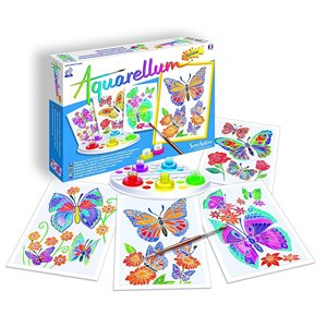 Aquarellum: Magic Canvas Junior Butterflies & Flowers (Multi) (No Amazon Sales)