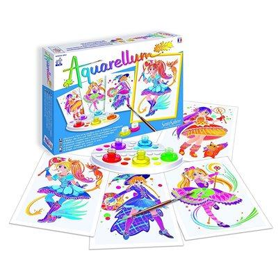Aquarellum: Magic Canvas Junior Magical Girls (Multi) (No Amazon Sales)