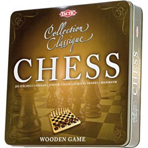 Chess Wooden Tin Box