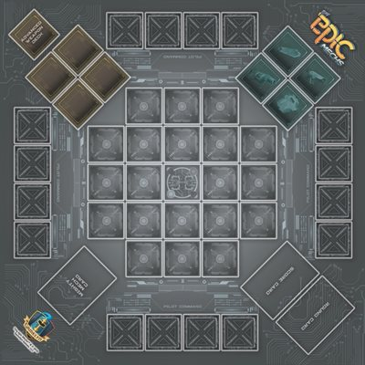 Playmat: Tiny Epic Mechs (No Amazon Sales)
