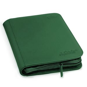 Binder: 4-Pocket Zipfolio Xenoskin Green