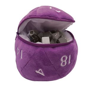 D20 Plush Dice Bag: Purple