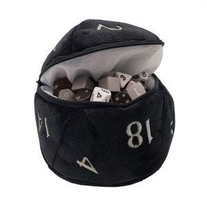D20 Plush Dice Bag: Black