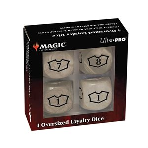 Dice: Magic: the Gathering: Commander Loyalty Dice: Plains (4pc) ^ Q2 2021