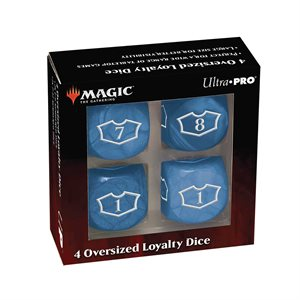 Dice: Magic: the Gathering: Commander Loyalty Dice: Island (4pc) ^ Q2 2021