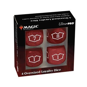 Dice: Magic: the Gathering: Commander Loyalty Dice: Mountain (4pc) ^ Q2 2021