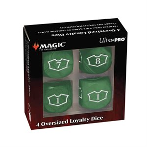 Dice: Magic: the Gathering: Commander Loyalty Dice: Forest (4pc) ^ Q2 2021