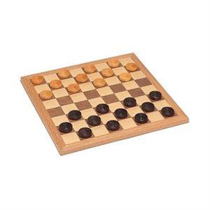"""Checkers 12"""" Walnut Natural Wood"""