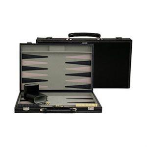 "Backgammon 15"" Black Leatherette"