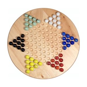 """Chinese Checkers 11.5"""" Wooden"""