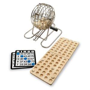Bingo: Wooden Balls & Tray