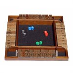 Shut The Box 4 Player Wooden (No Amazon Sales)